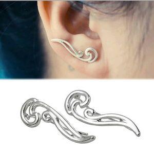 Jewelry - Silver Leaf Crawler Earrings ADD ON FREE!